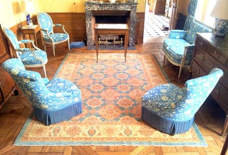 tapis oriental vert clair decoration classique