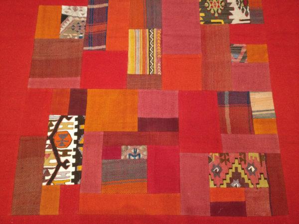 kilim patchwork rouge 3
