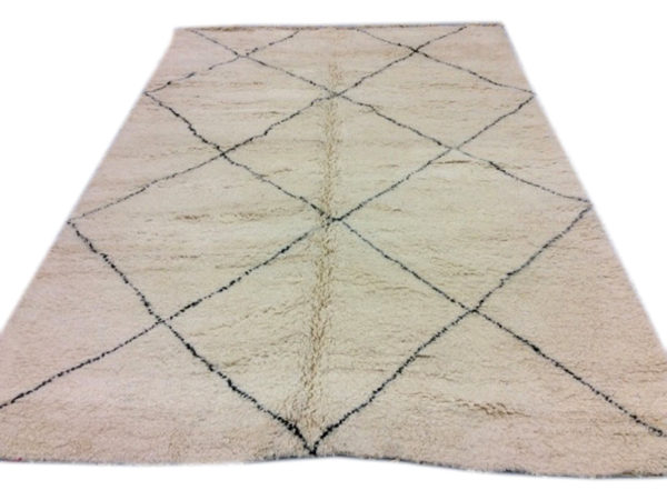 tapis berbere noir et blanc losange