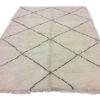 tapis marocain noir et blanc losange