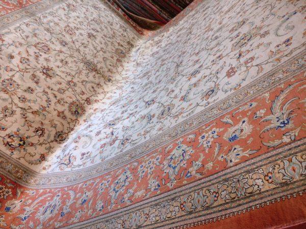 Ghoum Iranien soie grande taille 400 cm x 300 cm