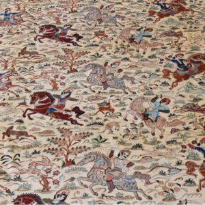 tapis ghoum cavalier soie 400 x 300 cm