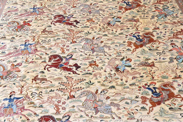 tapis ghoum motif chasse