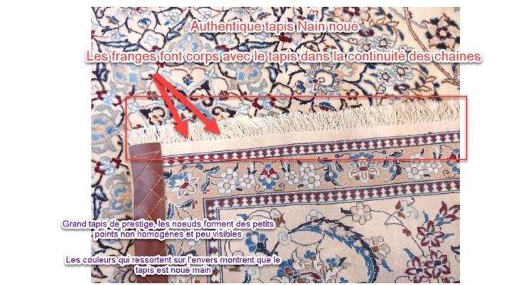 identifier un vrai tapis persan nain-min