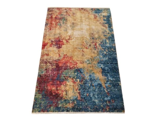 tapis contemporain noué main art deco