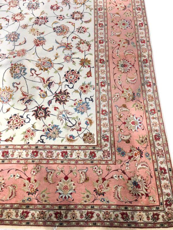 grand tapis iranien tabriz soie et laine