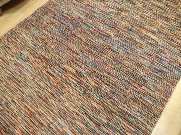 tapis moderne noué main multicolor