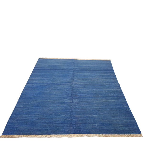 Kilim moderne bleu uni 200x150