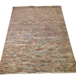 tapis afghan moderne rayure multicolor 2