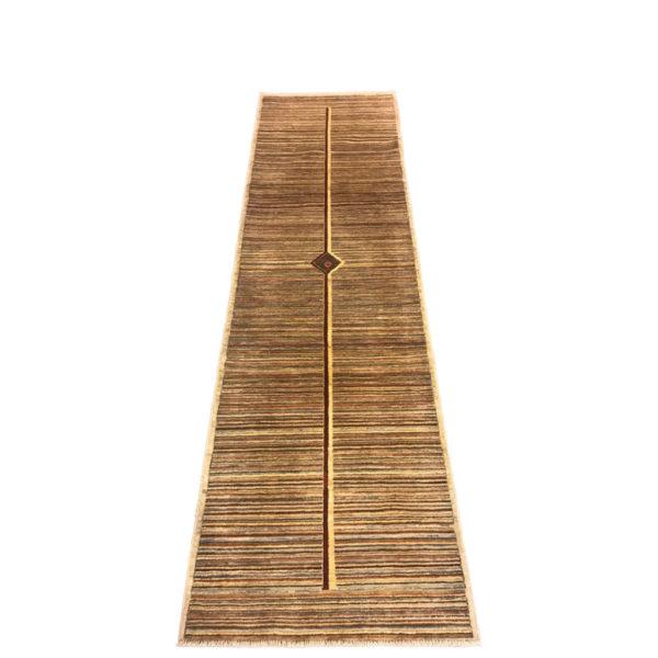 tapis de couloir moderne rayure et double trait central 2