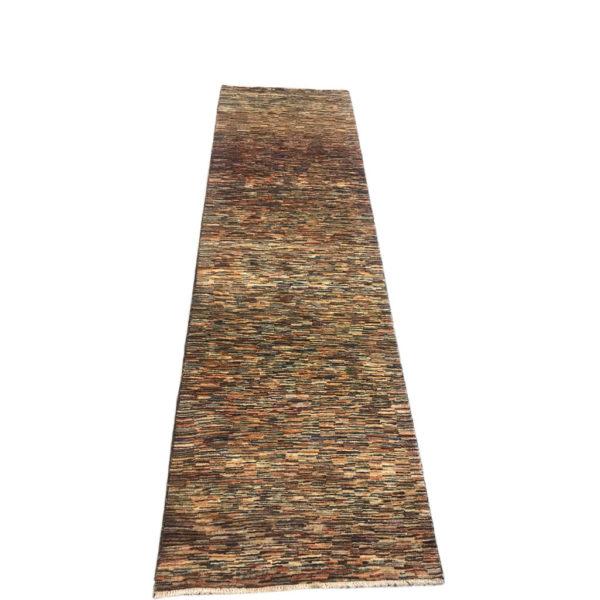 tapis de couloir moderne rayure tons foncés 2