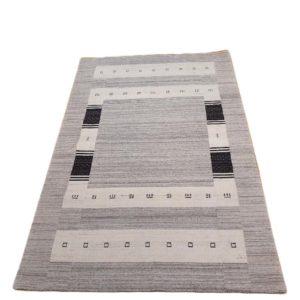 tapis indien fond gris blanc chine