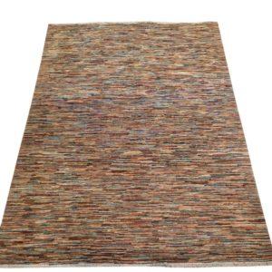 tapis moderne afghan rayures 200x150