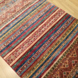 tapis afghan moderne noué main khorjin