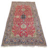 tapis iranien floral rouge