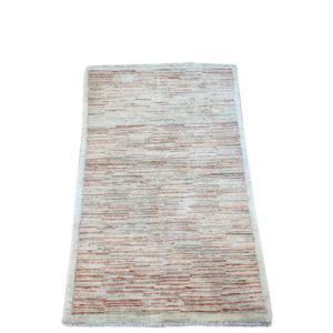 tapis moderne afghan rayure avec dominante beige