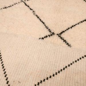 petit tapis berbere pas cher noir et blanc