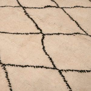 tapis marocain losange noir et blanc