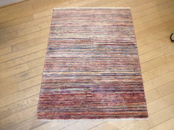 tapis moderne afghan multicolor