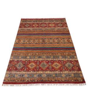 tapis moderne afghan noué main safya 2